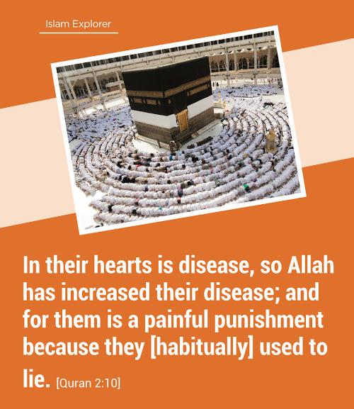 In their hearts is disease, so Allah has increased their disease