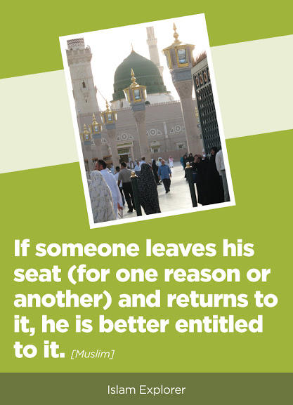 If someone leaves his seat and returns to it, he is better entitled to it.