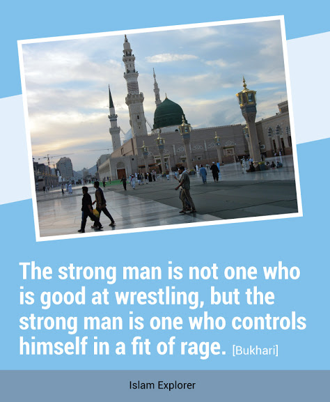 The strong man is not one who is good at wrestling