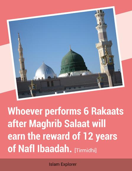 earn the reward of 12 years of Nafl Ibaadah