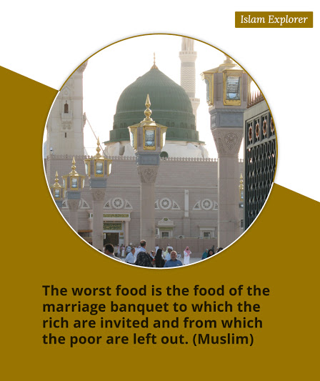 The worst food is the food of the marriage banquet to which