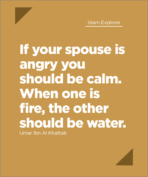 If your spouse is angry you should be calm