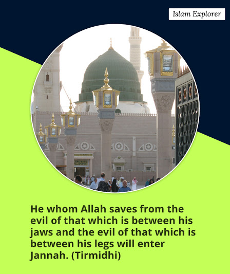 He whom Allah saves from the evil...