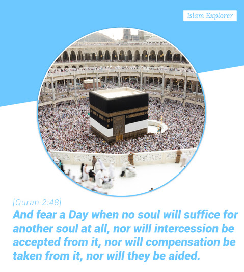And fear a Day when no soul will suffice for another soul al all