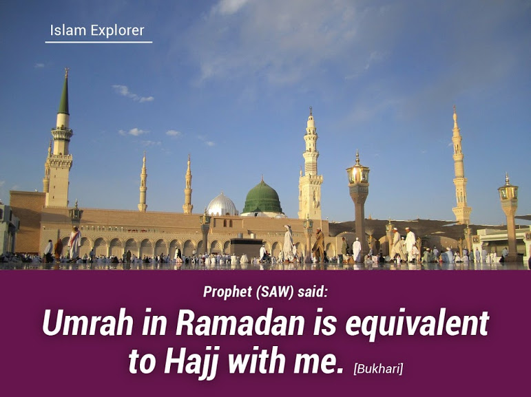 Umrah in Ramadan is equivalent to Hajj with me.