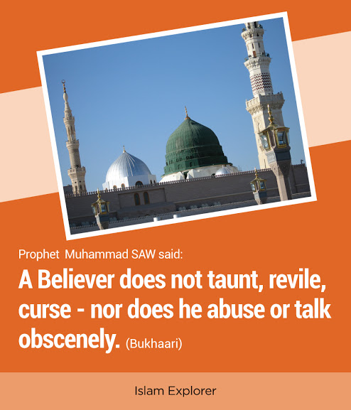 A Believer does not taunt, revile, curse