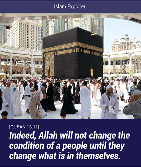 Allah will not change the condition of a people