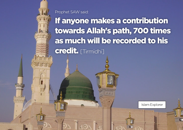 If anyone makes a contribution towards Allah's path