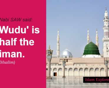 Wudu' is half the iman.