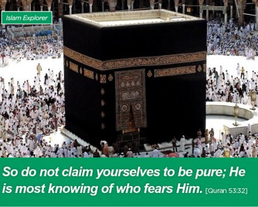 So do not claim yourselves to be pure