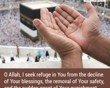 O Allah, I seek refuge in you from the decline of your blessings