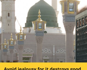 Avoid jealousy