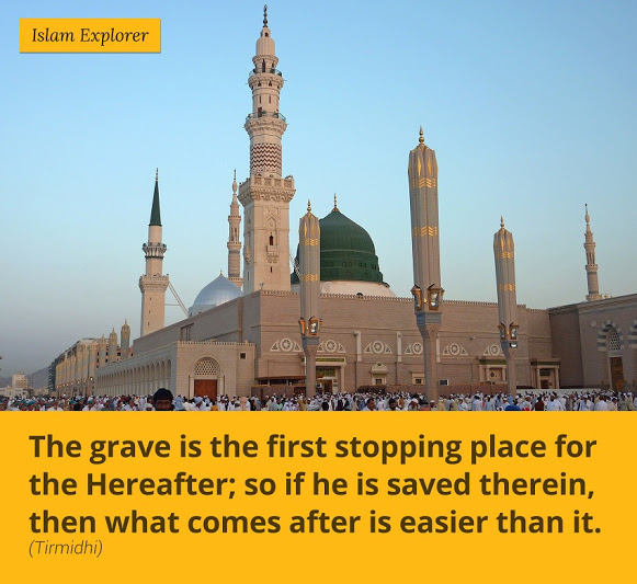 The grave is the first stopping place for the hereafter