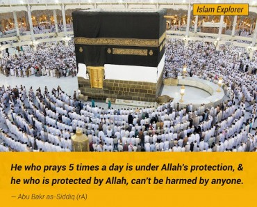 He who prays 5 times a day is under Allah's protection
