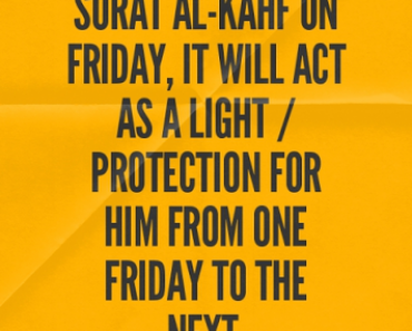 Whoever reads Surat Al-Kahf on Friday