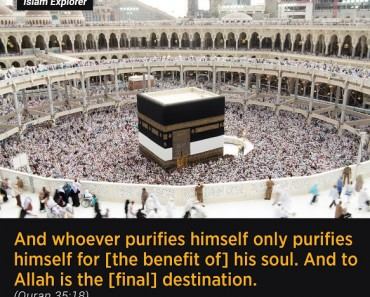 whoever purifies himself only purifies himself