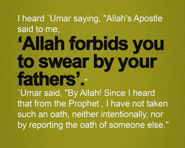 "I heard 'Umar saying, ""Allah's Apostle said to me"