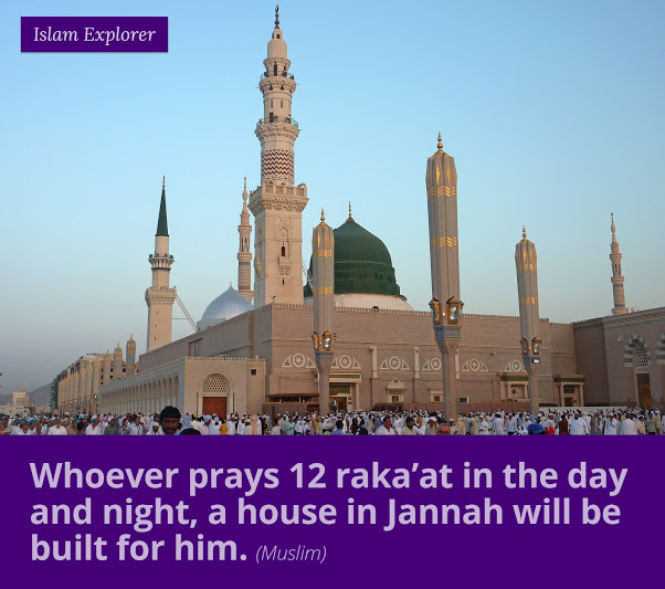 Whoever prays 12 raka'at in the day and night