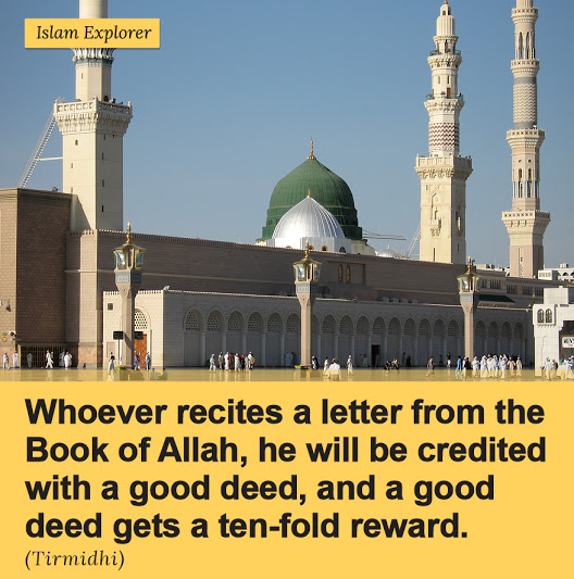 Whoever recites a letter from the Book of Allah