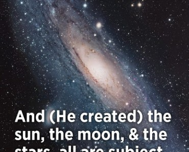 And (He created) the sun, the moon