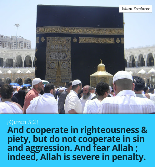 And cooperate in righteousness & piety