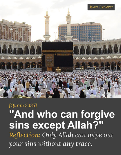 """And who can forgive sins except Allah?"""