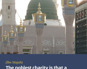 The noblest charity is that a Muslim acquires some knowledge