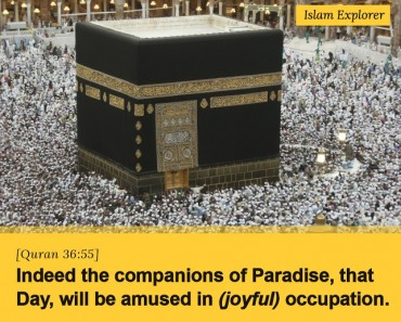 Indeed the companions of Paradise