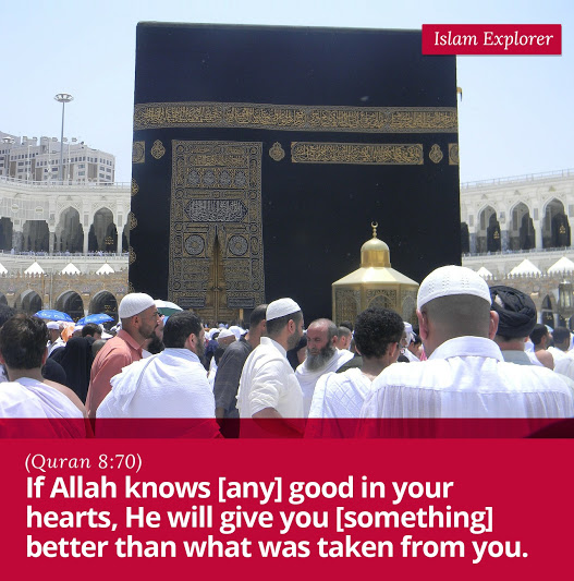 If Allah knows [any] good in your hearts