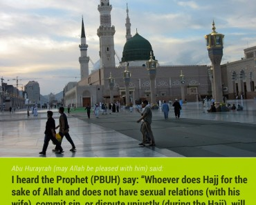 Whoever does Hajj for the sake of Allah and does not have sexual relations