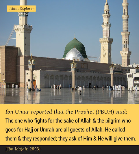 The one who fights for the sake of Allah & the pilgrim who goes for Hajj