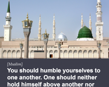 You should humble yourselves to one another.