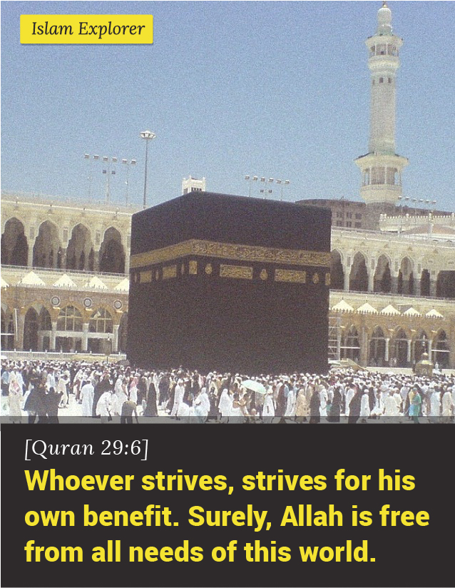 Whoever strives, strives for his own benefit.