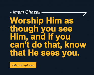 Worship Him as though you see Him