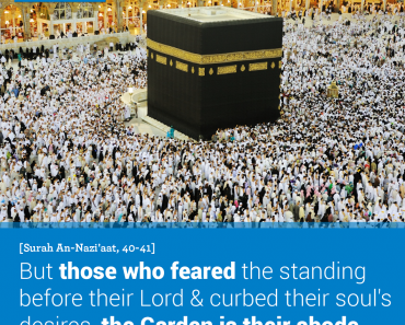 But those who feared the standing before their Lord