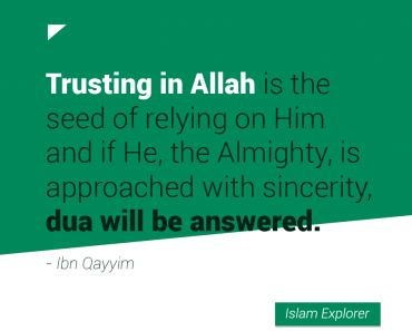 Trusting in Allah is the seed of relying on Him