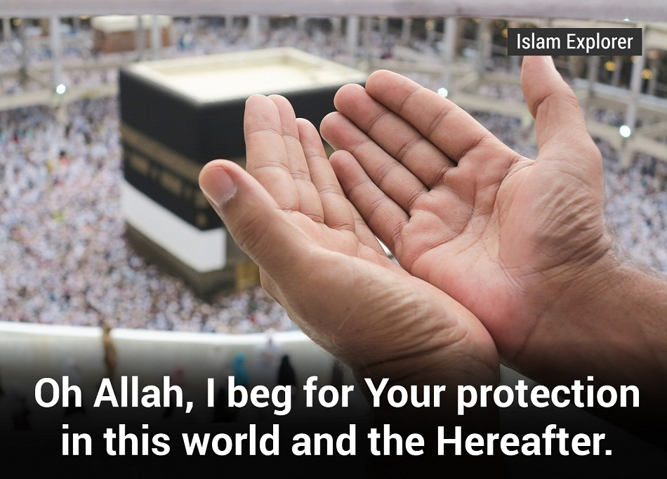 I beg for Your protection