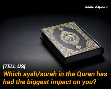 ayah/surah in the Quran