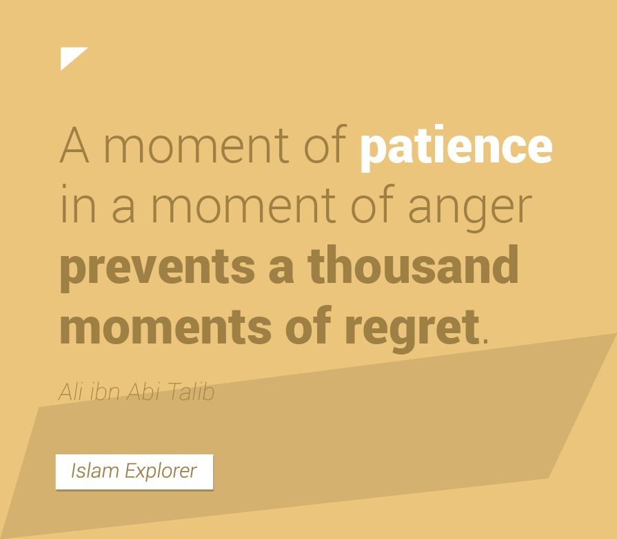 A moment of patience in a moment of anger