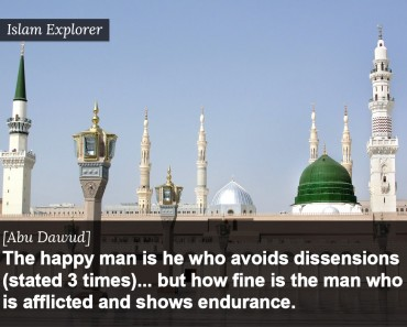 The happy man is he who avoids dissensions