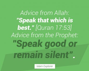Speak that which is best.