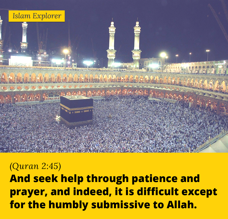 And seek help through patience and prayer