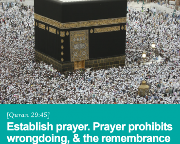 Prayer prohibits wrongdoing