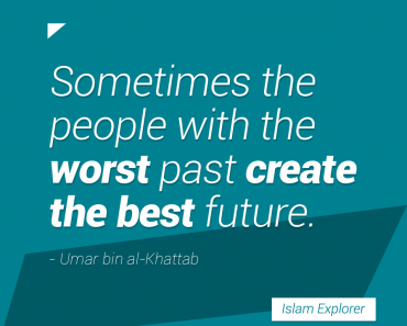 Sometimes the people with the worst past create the best future.