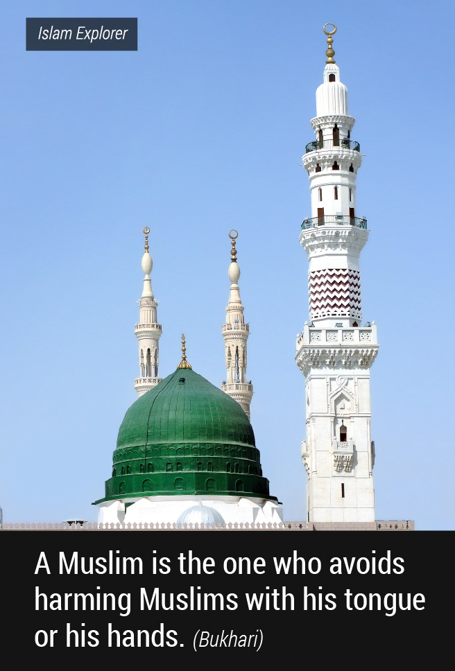 A Muslim is the one who avoids harming