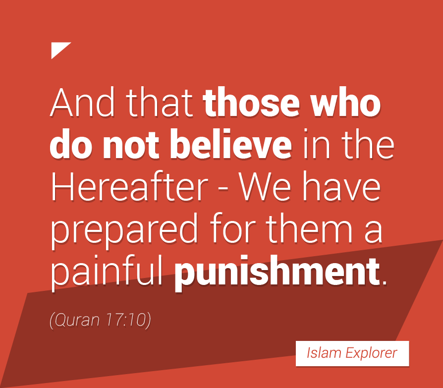 And that those who do not believe in the Hereafter