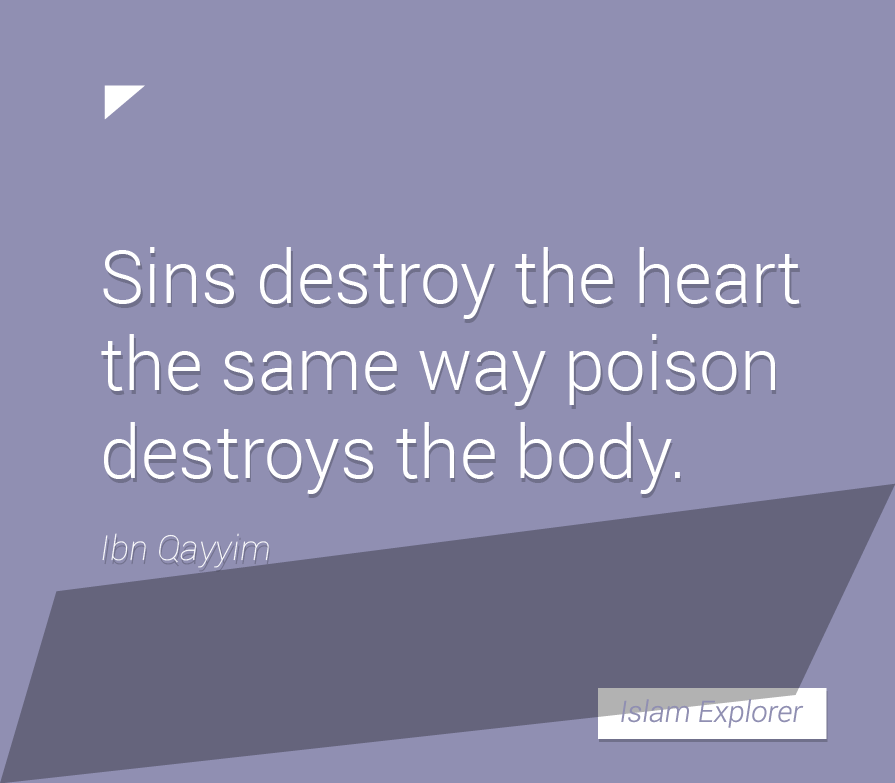 Sins destroy the heart
