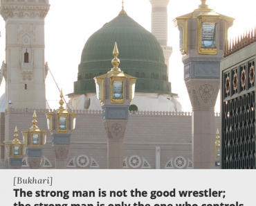 The strong man is not to the good wrestler