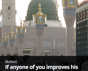 If anyone of you improves his religion