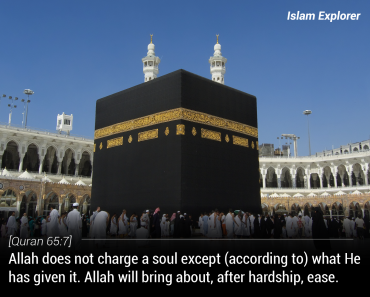 Allah does not charge a soul except (according to) what He has given it.